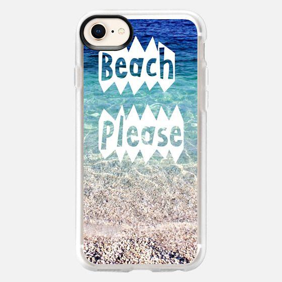 beach please - Snap Case