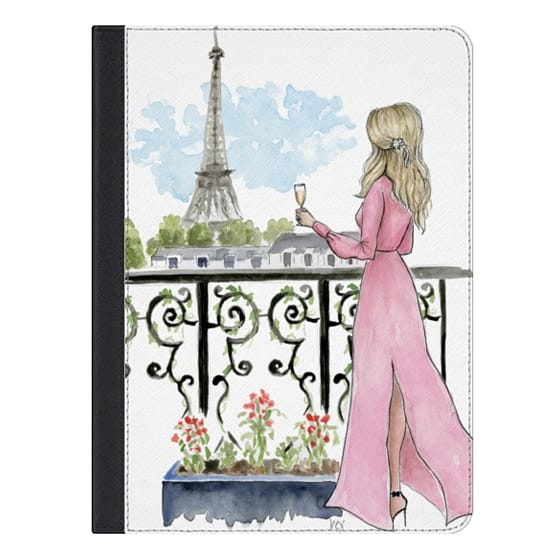 9.7-inch iPad Covers - Paris Eiffel Tower Fashion Illustration Girl
