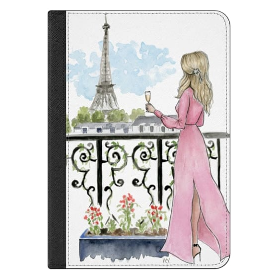 iPad Mini 4 Covers - Paris Eiffel Tower Fashion Illustration Girl