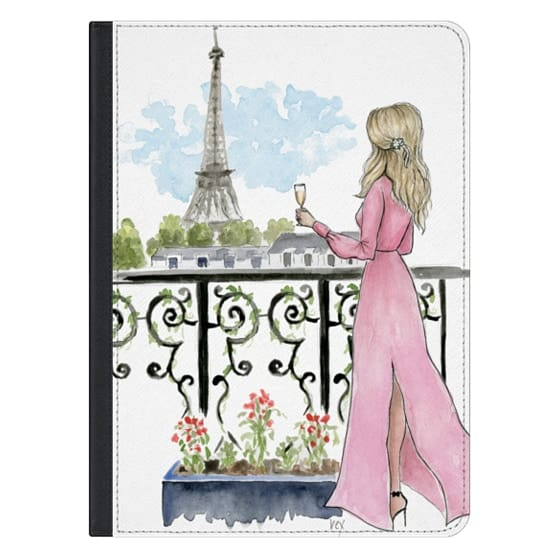 12.9-inch iPad Pro Covers - Paris Eiffel Tower Fashion Illustration Girl