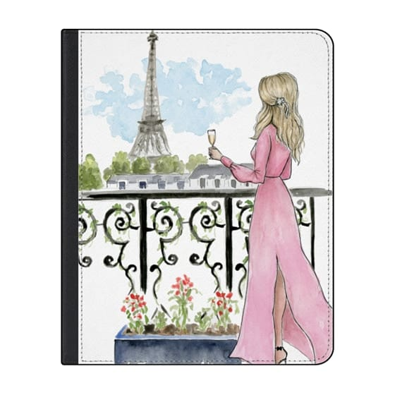 12.9-inch iPad Pro (2018) Covers - Paris Eiffel Tower Fashion Illustration Girl