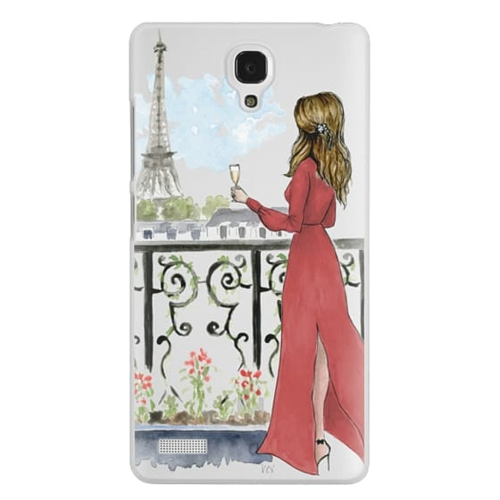 Paris Girl Brunette (Eiffel Tower, Fashion Illustration)