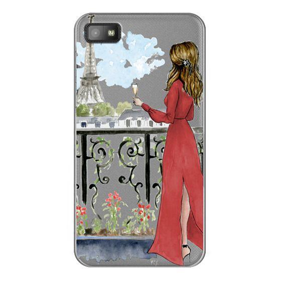 Blackberry Z10 Cases - Paris Girl Brunette (Eiffel Tower, Fashion Illustration)