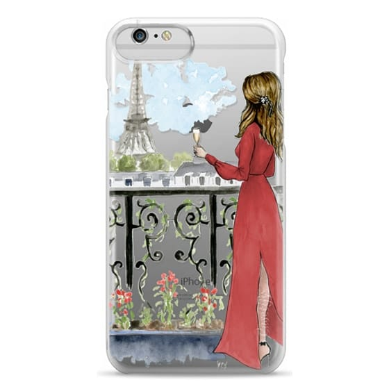 iPhone 6 Plus Cases - Paris Girl Brunette (Eiffel Tower, Fashion Illustration)
