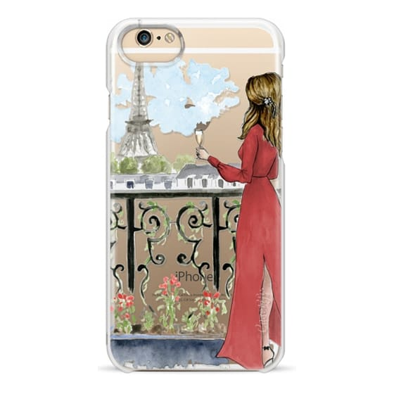iPhone 6s Cases - Paris Girl Brunette (Eiffel Tower, Fashion Illustration)