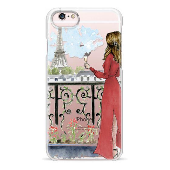 iPhone 6s Cases - Paris Girl Brunette (Eiffel Tower, Fashion Illustration)