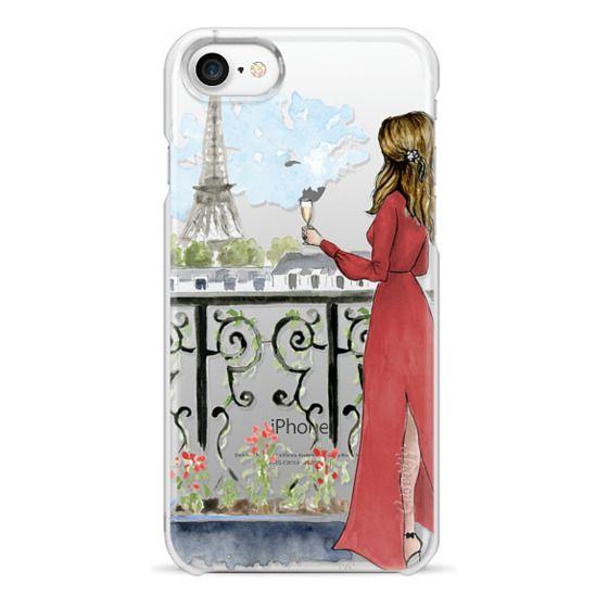 iPhone 7 Cases - Paris Girl Brunette (Eiffel Tower, Fashion Illustration)