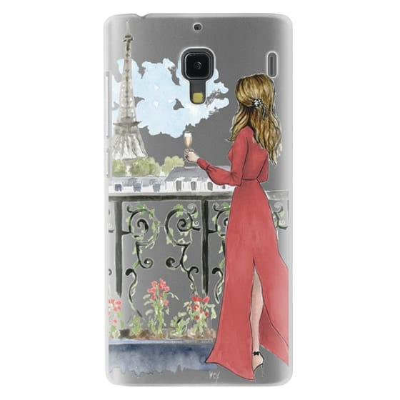 Redmi 1s Cases - Paris Girl Brunette (Eiffel Tower, Fashion Illustration)