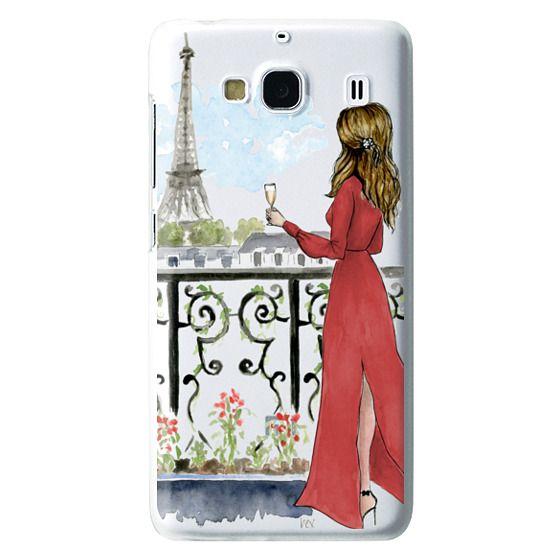 Redmi 2 Cases - Paris Girl Brunette (Eiffel Tower, Fashion Illustration)