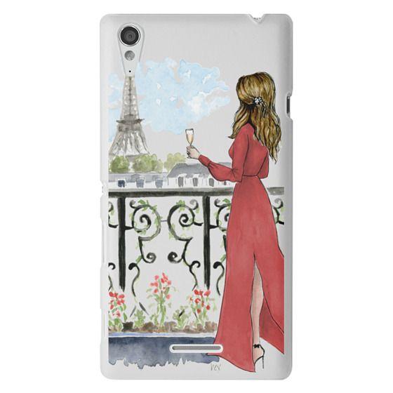 Sony T3 Cases - Paris Girl Brunette (Eiffel Tower, Fashion Illustration)
