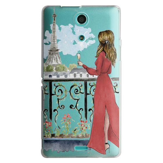 Sony Zr Cases - Paris Girl Brunette (Eiffel Tower, Fashion Illustration)