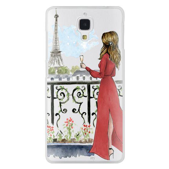 Xiaomi 4 Cases - Paris Girl Brunette (Eiffel Tower, Fashion Illustration)