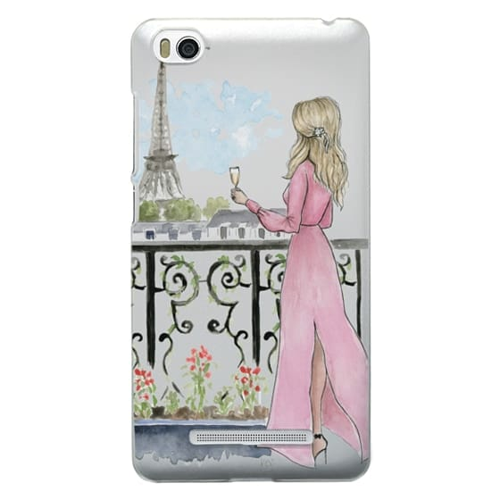 Xiaomi 4i Cases - Paris Girl -Blonde- Eiffel Tower- Fashion Illustration- Champagne-