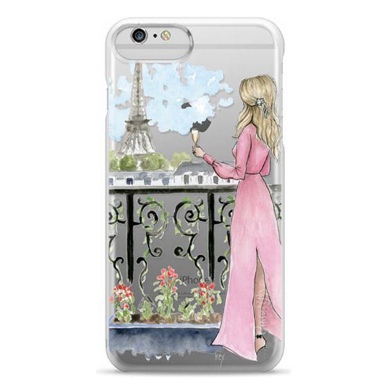 iPhone 6 Plus Cases - Paris Girl -Blonde- Eiffel Tower- Fashion Illustration- Champagne-