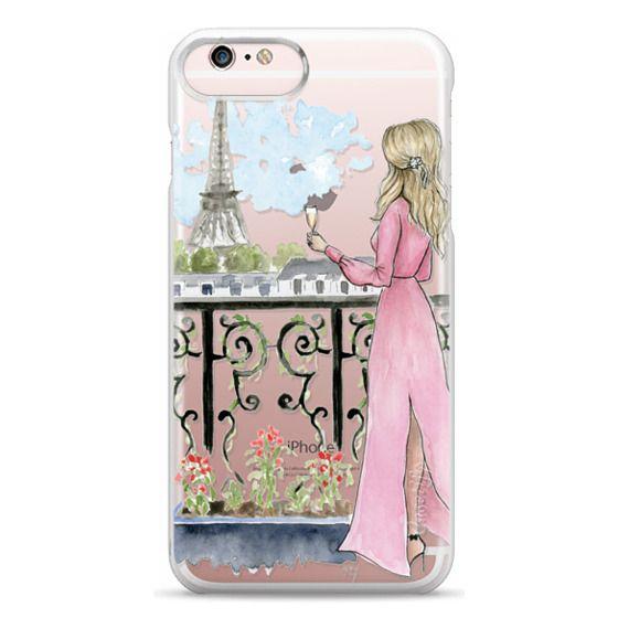 iPhone 6s Plus Cases - Paris Girl -Blonde- Eiffel Tower- Fashion Illustration- Champagne-