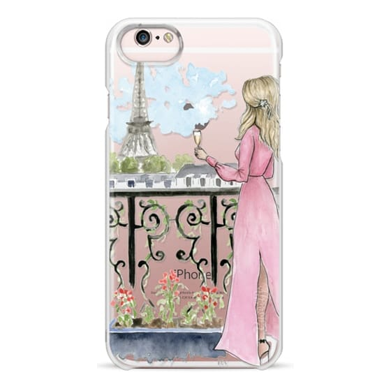 iPhone 6s Cases - Paris Girl -Blonde- Eiffel Tower- Fashion Illustration- Champagne-