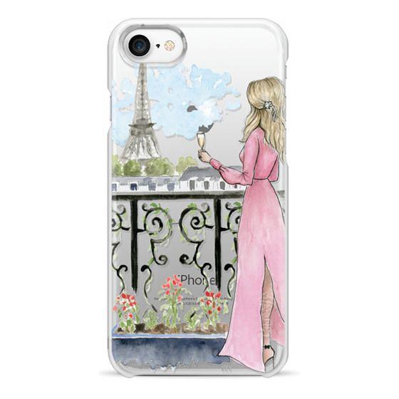 iPhone 7 Cases - Paris Girl -Blonde- Eiffel Tower- Fashion Illustration- Champagne-