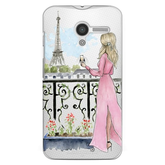 Moto X Cases - Paris Girl -Blonde- Eiffel Tower- Fashion Illustration- Champagne-