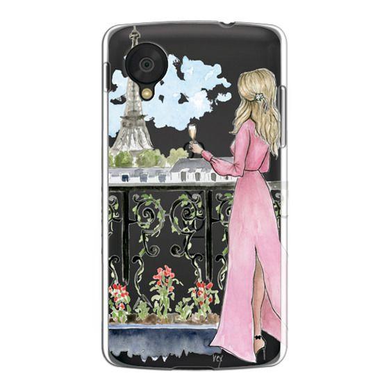 Nexus 5 Cases - Paris Girl -Blonde- Eiffel Tower- Fashion Illustration- Champagne-