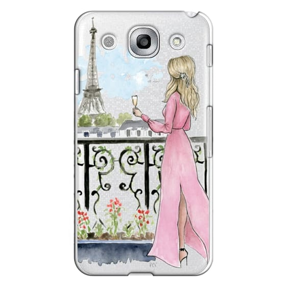 Optimus G Pro Cases - Paris Girl -Blonde- Eiffel Tower- Fashion Illustration- Champagne-