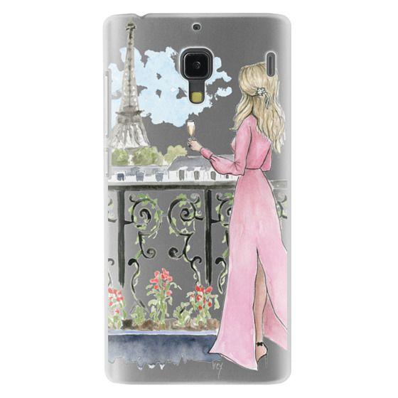 Redmi 1s Cases - Paris Girl -Blonde- Eiffel Tower- Fashion Illustration- Champagne-