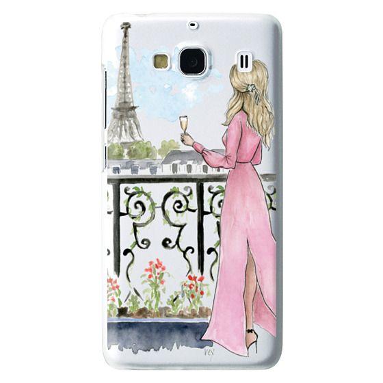 Redmi 2 Cases - Paris Girl -Blonde- Eiffel Tower- Fashion Illustration- Champagne-