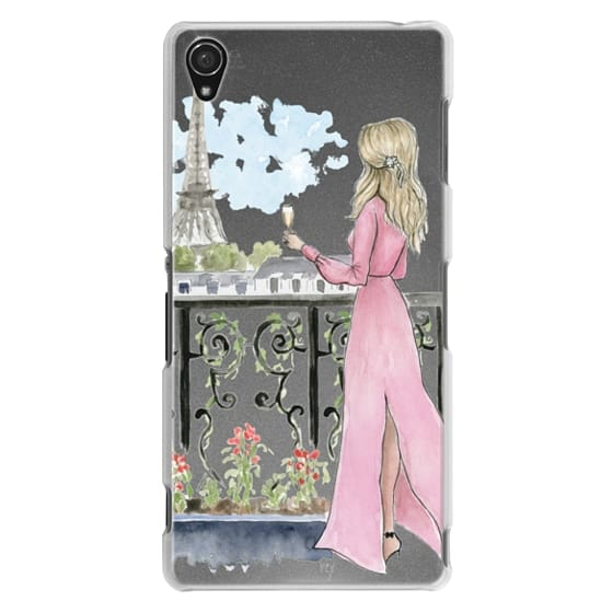 Sony Z3 Cases - Paris Girl -Blonde- Eiffel Tower- Fashion Illustration- Champagne-