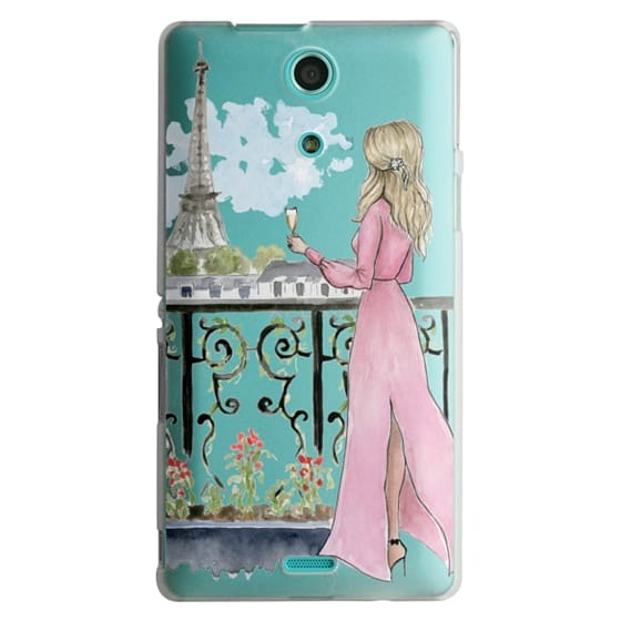 Sony Zr Cases - Paris Girl -Blonde- Eiffel Tower- Fashion Illustration- Champagne-