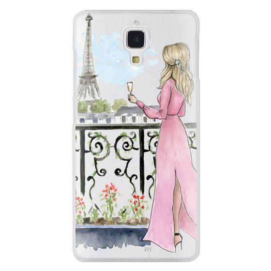 Xiaomi 4 Cases - Paris Girl -Blonde- Eiffel Tower- Fashion Illustration- Champagne-