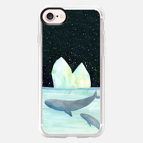 Cool whales on Antarctica - Classic Grip Case