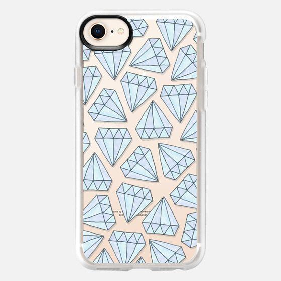 Ice Blue Diamante - Snap Case
