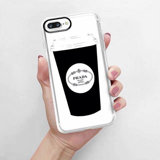 d1c239d9e365 ... iPhone 7 Plus Cases - Prada Coffee B&W