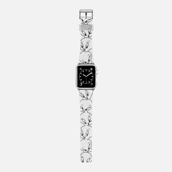 Tweety Pie in Black & White Apple Watch Band