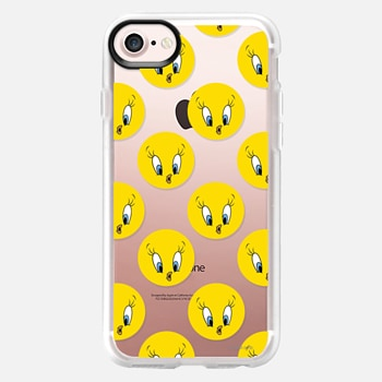 iPhone 7 Case Tweety Pie Polka Dots Print