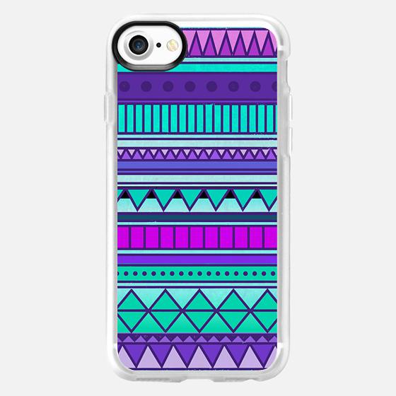 Purple Mint Turquoise Girly Cute Tribal Aztec Geometric Triangle Pattern - Wallet Case