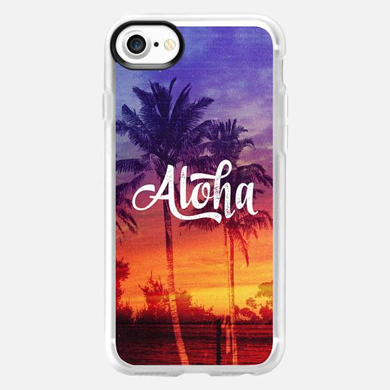 Cool Vintage 70s Aloha Hawaii Sunset Palm Trees Summer Beach - Wallet Case