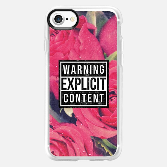 Cool Chic Sassy Girly Red Roses Grunge Explicit Content Warning Floral Rose Vintage Photo - Wallet Case