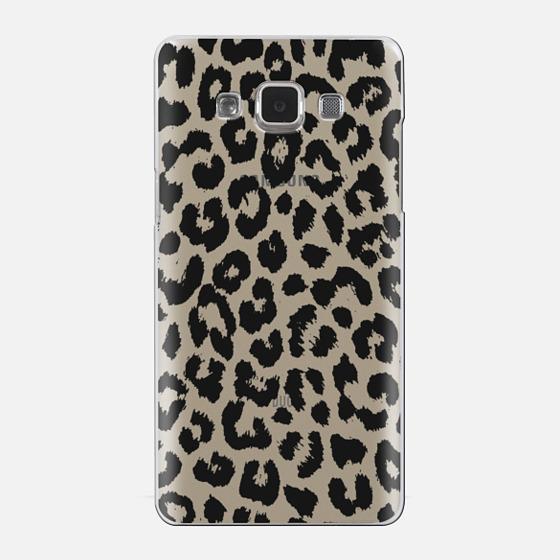 Black Transparent Leopard Print