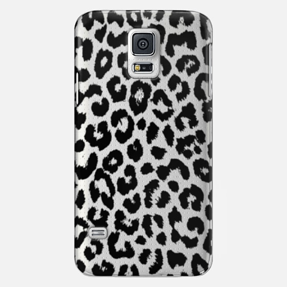 Black Transparent Leopard Print