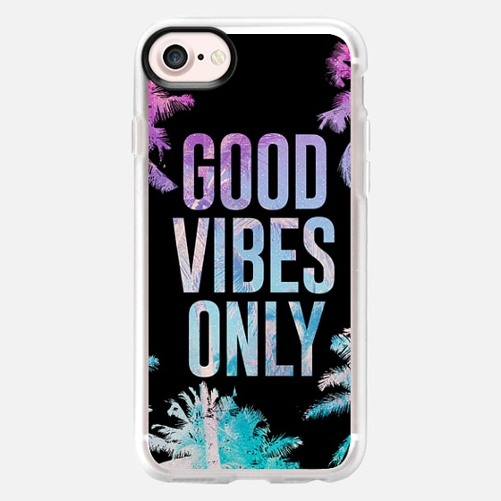 Good Vibes Only Summer Tropical Beach Palm Trees Chill - Wallet Case