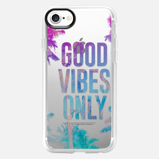 Transparent Tropical Summer Good Vibes Only  - Wallet Case