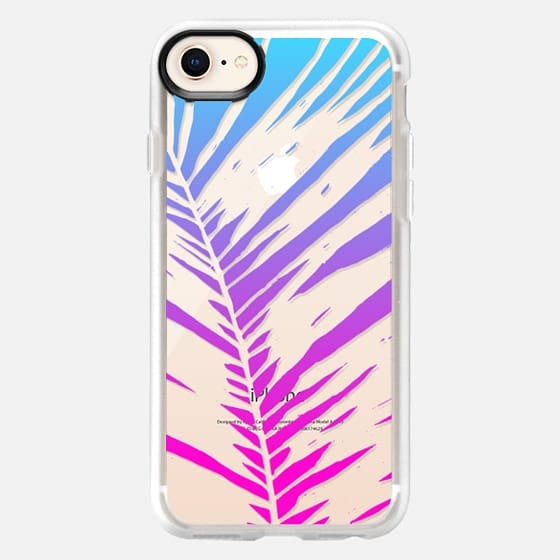 Pink Blue Ombre Transparent Tropical Summer Palm Tree Leaf - Snap Case