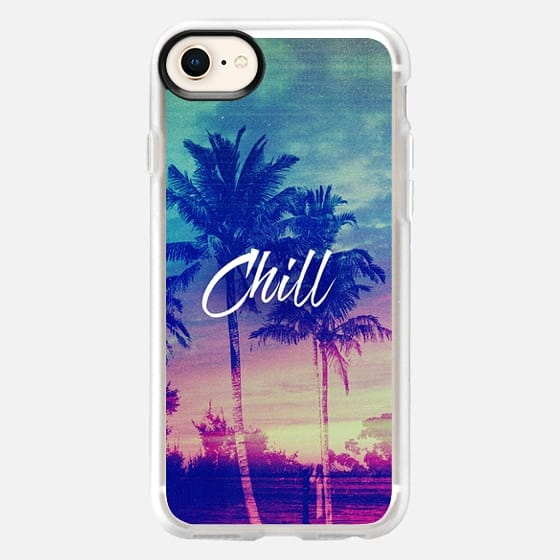 Pink Blue Palm Tree Sunset Beach Tropical Summer Chill Good Vibes California - Snap Case