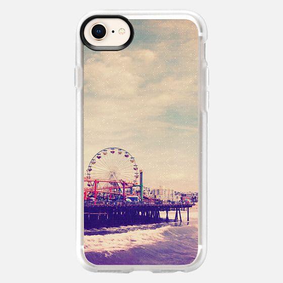 California Beach Ocean Ferris Wheel  - Snap Case