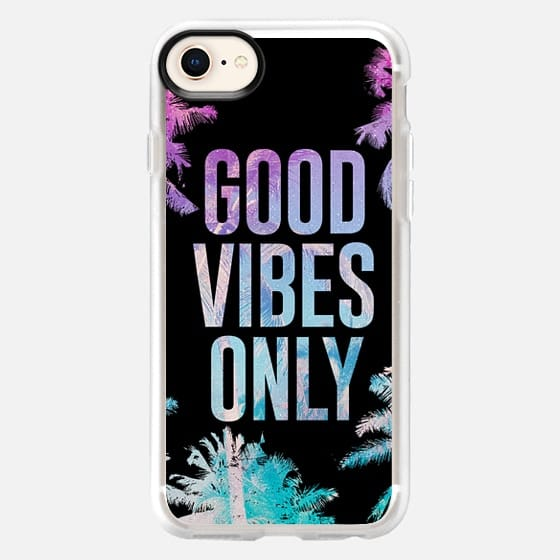 Good Vibes Only Summer Tropical Beach Palm Trees Chill - Snap Case