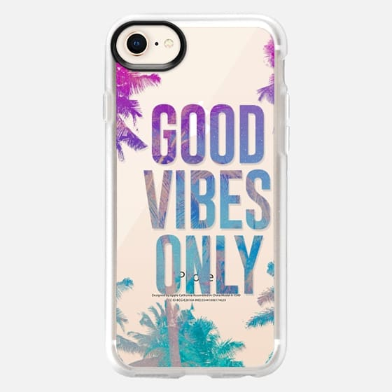 Transparent Tropical Summer Good Vibes Only  - Snap Case