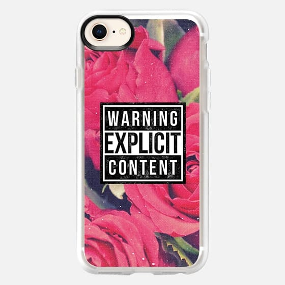 Cool Chic Sassy Girly Red Roses Grunge Explicit Content Warning Floral Rose Vintage Photo - Snap Case