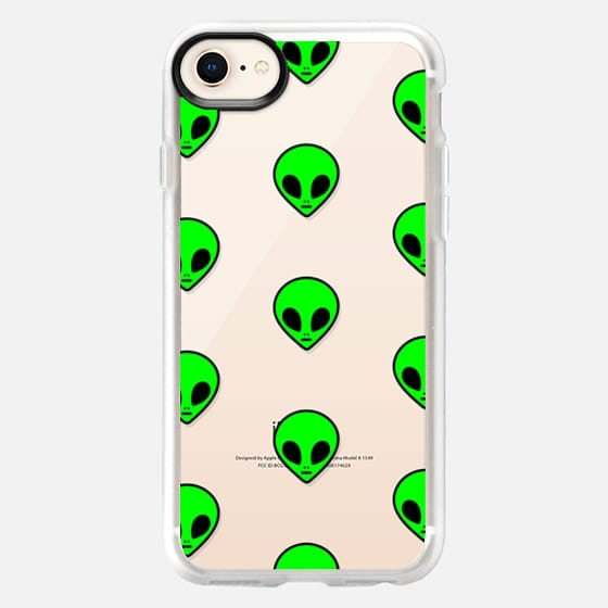 Cute Cool Funny Neon Green Transparent Space Alien Pattern Design - Snap Case