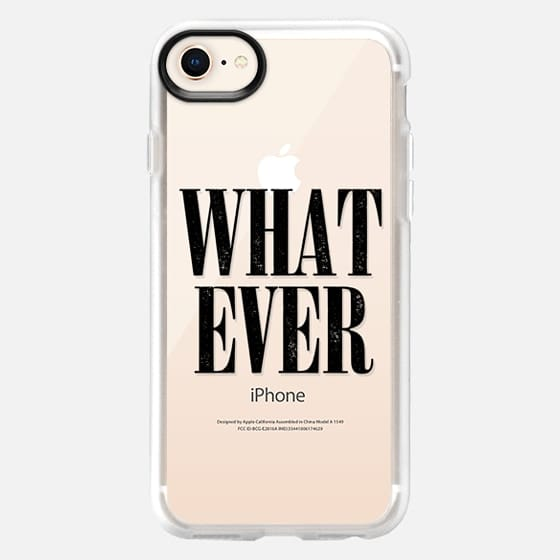 Cool 90s Transparent Black Grunge Whatever Nirvana Typography  - Snap Case