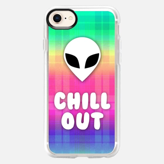 Alien Grunge Aesthetic Rainbow Plaid Colorful Chill Out Trippy Acid Psychedelic Hippie Boho 90s - Snap Case